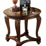 ashley furniture norcastle end table the classy home wbg dark brown wood click enlarge glass coffee black frame zenfield chair log bench kmart plastic contemporary nest tables 150x150