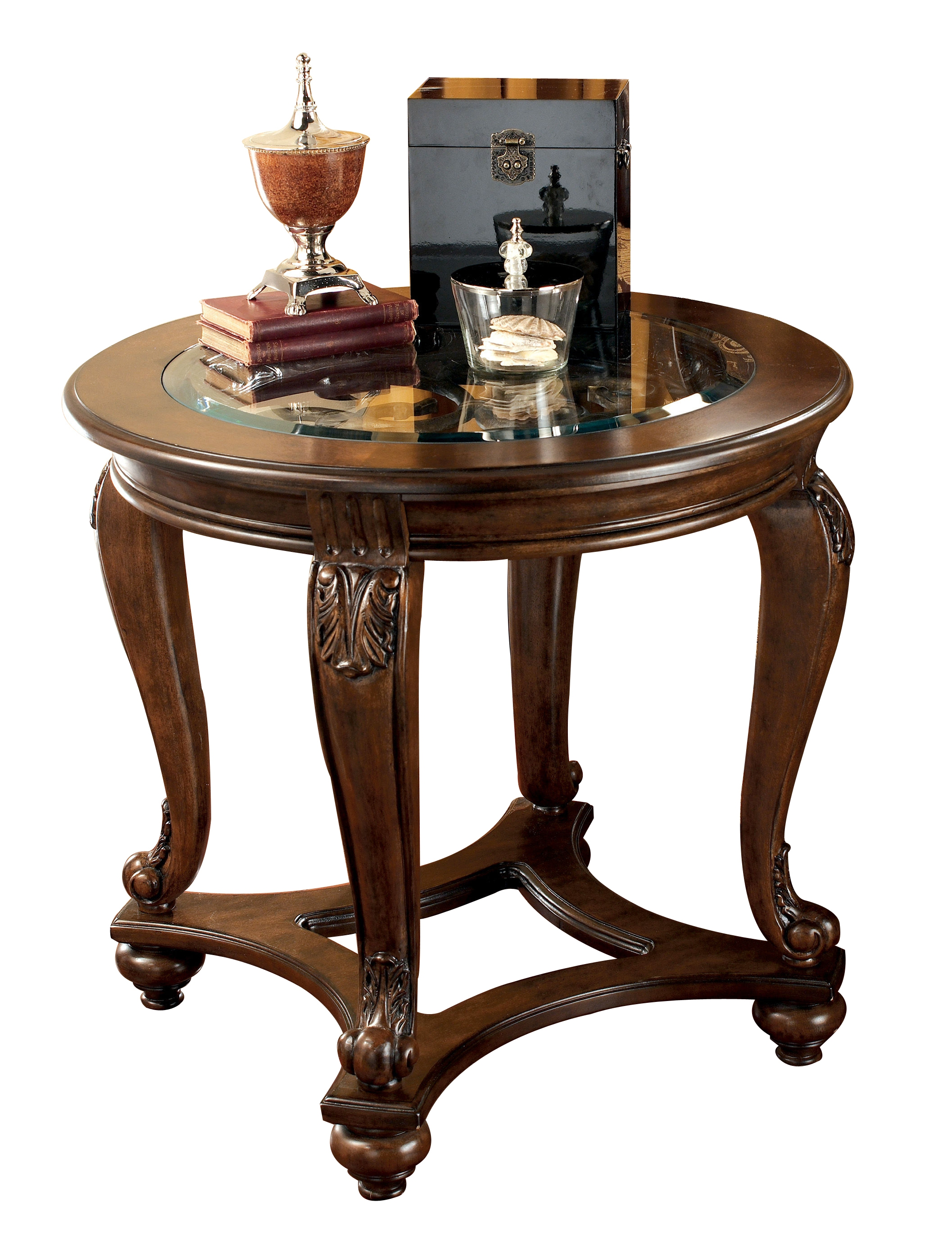 ashley furniture norcastle end table the classy home wbg dark brown wood click enlarge glass coffee black frame zenfield chair log bench kmart plastic contemporary nest tables