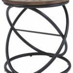 ashley furniture signature design charliburi black round end table contemporary brown kitchen dining pie crust oriental style stanley sofa set coffee and tables for living room 150x150