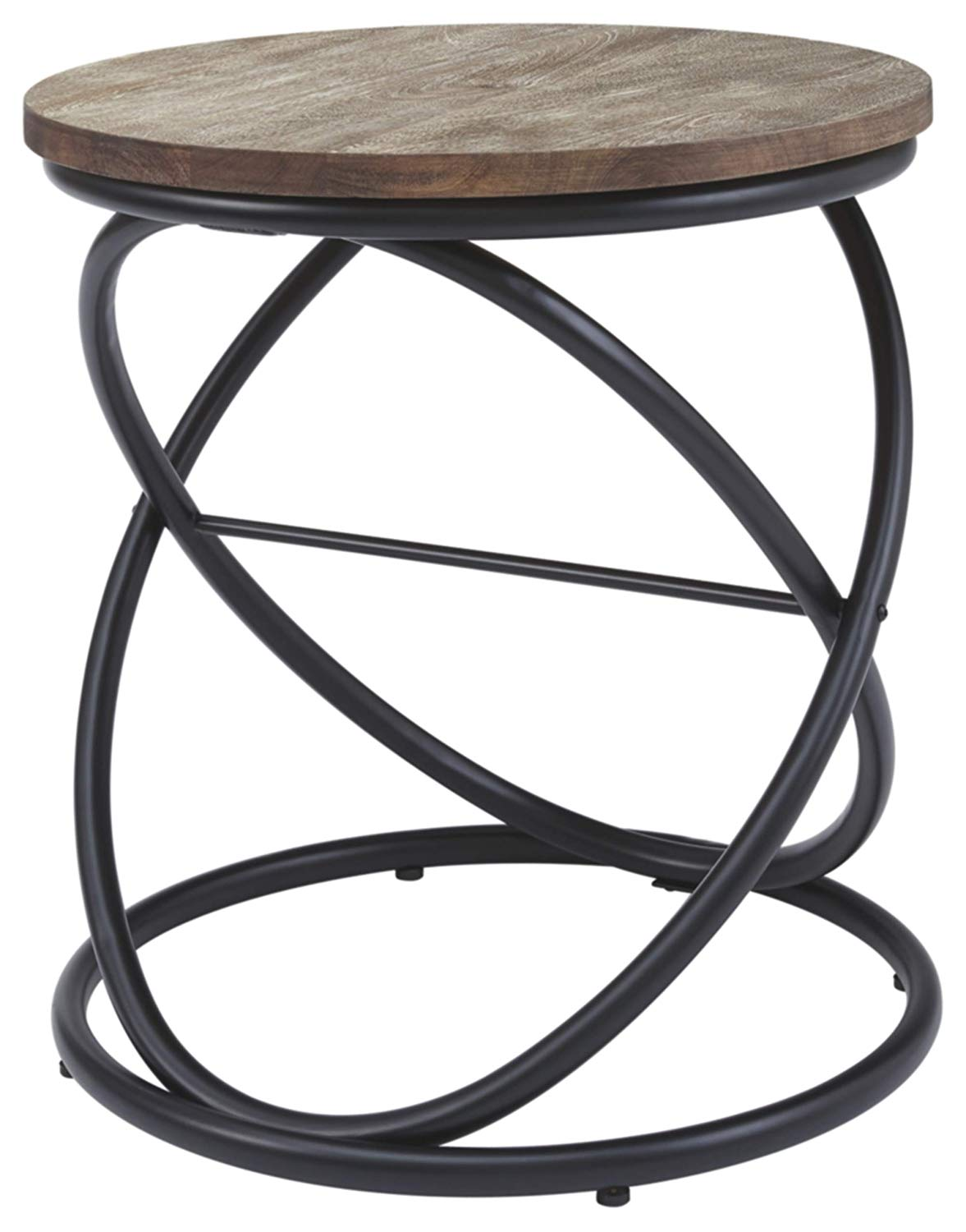 ashley furniture signature design charliburi round end table contemporary brown black kitchen dining factory outdoor patio glass log cabin tables large coffee accent laura