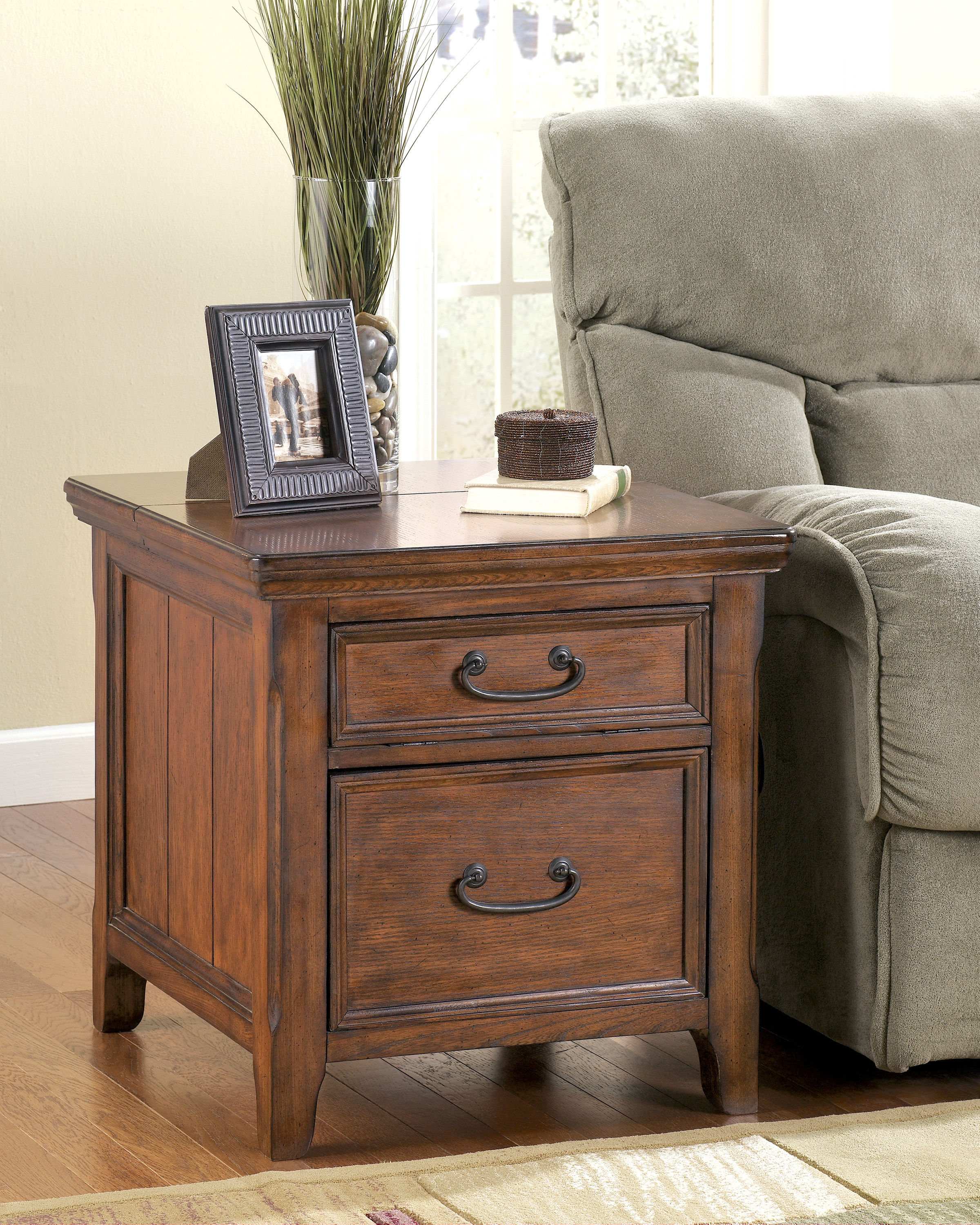 ashley furniture woodboro end table with file cabinet the classy home drawer click enlarge dog kennel buffet unpainted armoire modern tulsa target accent average coffee length