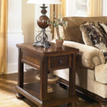 ashley porter rustic brown chair side end table wcc tables living room colour ideas with sofa matching coffee furniture companies alan white behind couch round outdoor umbrella 150x150