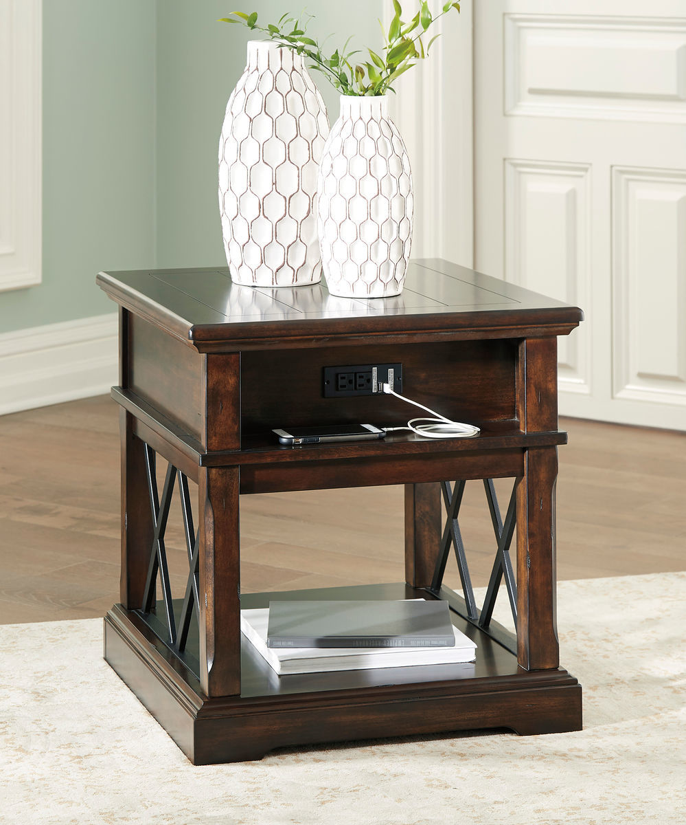 ashley roddinton dark brown rectangular end table wcc wood futura leather furniture cyber monday coffee set toronto ethan allen fabric samples sauder harbor bedroom small black