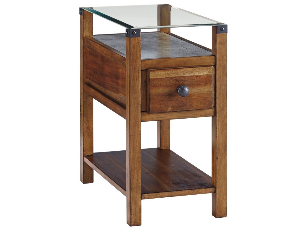 ashley signature design diamenton medium brown chair side products color glass end tables table with top and faux concrete shelf laura living room sets order catalogue nesting