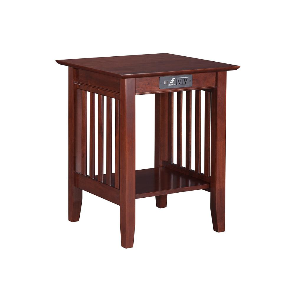atlantic furniture mission walnut printer stand with charging end tables station the white patio table mirrored drawer bedside under diy out pallets building black pipe distressed