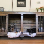 awesome dog crate that look like furniture the double doggie den indoor rustic kennel for two are can escape from indestructible grow with your end table open side change size 150x150