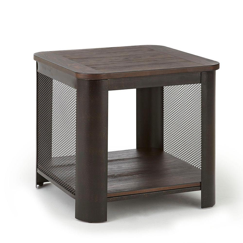 barrow brown end table the tables gray next glass side thin hallway console modern industrial square coffee two tone painted black entryway sauder furniture entertainment center