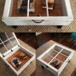 beautiful diy coffee table ideas homesthetics end old windows transformed into replacement glass for garden furniture gold bedside cabinets rustic farmhouse side universal cribs 150x150
