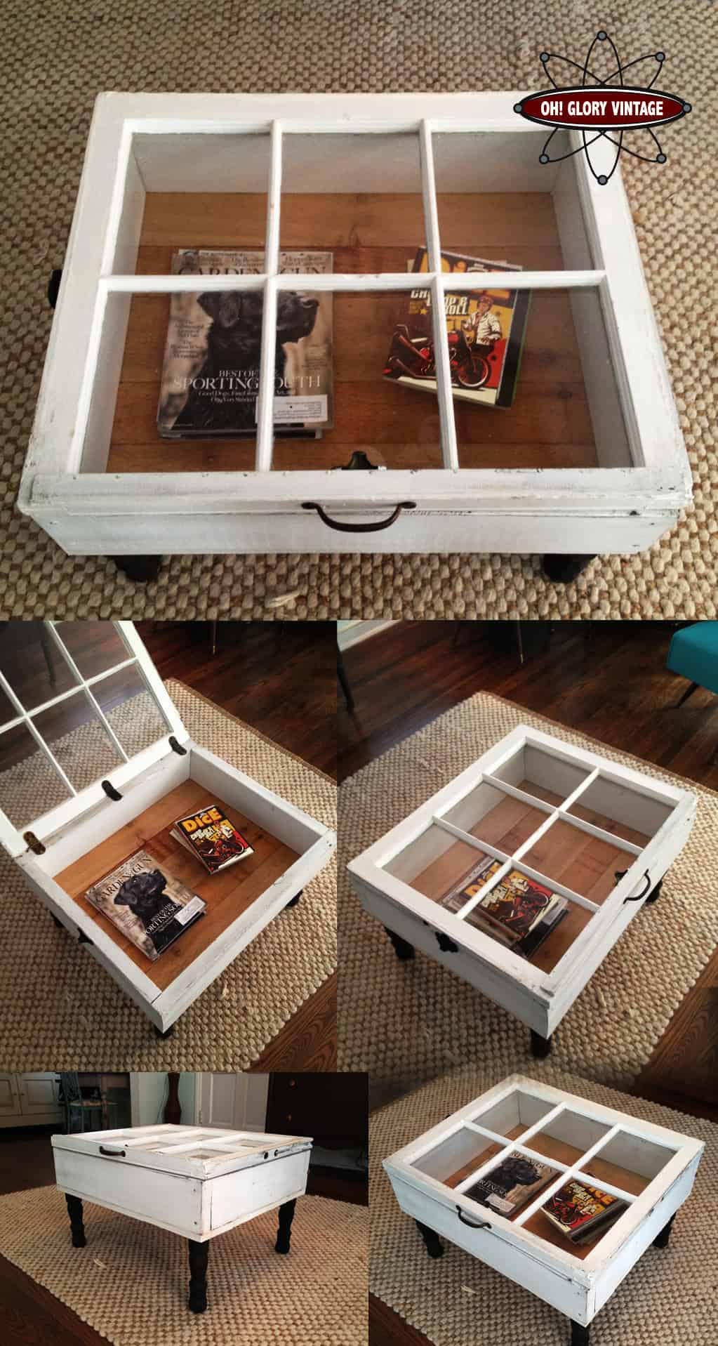 beautiful diy coffee table ideas homesthetics end old windows transformed into replacement glass for garden furniture gold bedside cabinets rustic farmhouse side universal cribs
