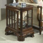 belfort signature belmont manchester curio table with glass top and products fine furniture design color american cherry wood end tables media storage extra long entryway one 150x150