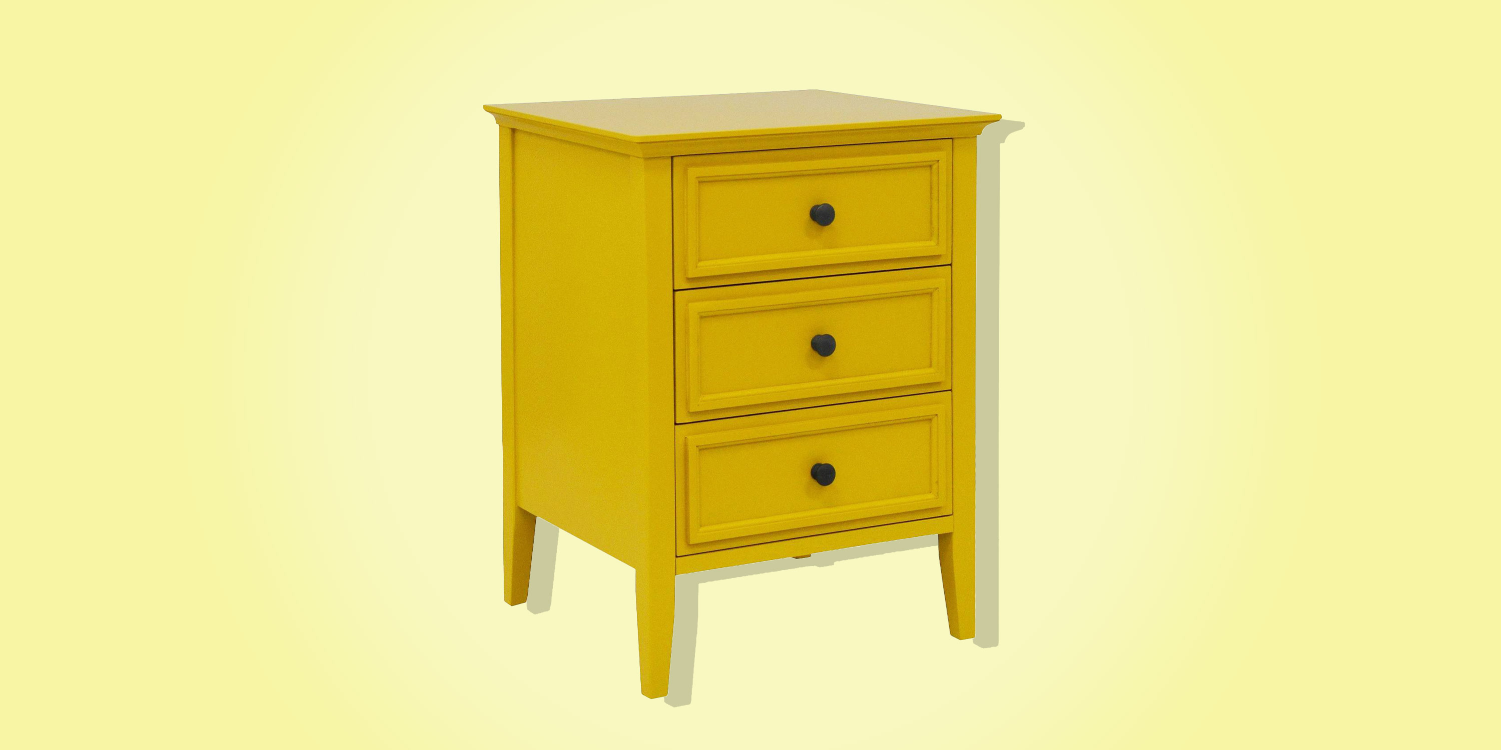 best bedside table from target end lede elkton three drawer painted yellow this bright nightstand bit garish but love laura ashley catalogue log cabin circular cover ethan allen
