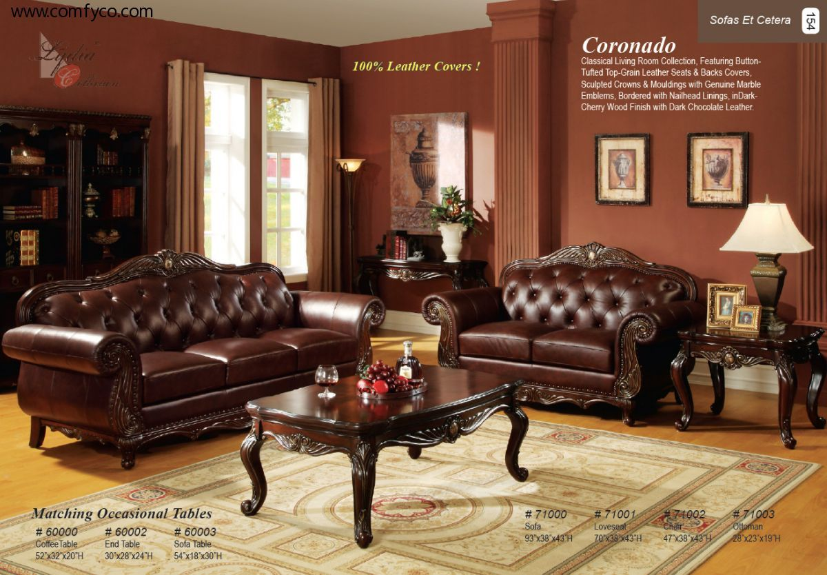 best brown leather sofa set designs for living room with paint end tables furniture wall colors ethan allen chairs used painted bedside table ideas big lots sets acrylic nesting