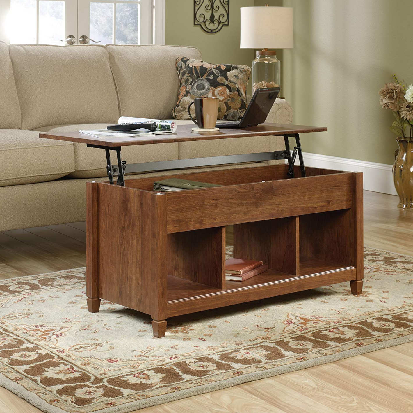 best coffee tables under lift top table nocrop sauder furniture end auburn cherry home hardware patio rustic country brown leather sectional sofa liberty collection narrow console