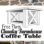 best diy farmhouse coffee table ideas and designs for homebnc end double cross chunky farm fresh design furniture style pet crates living room size stanley american modern bedroom 150x150