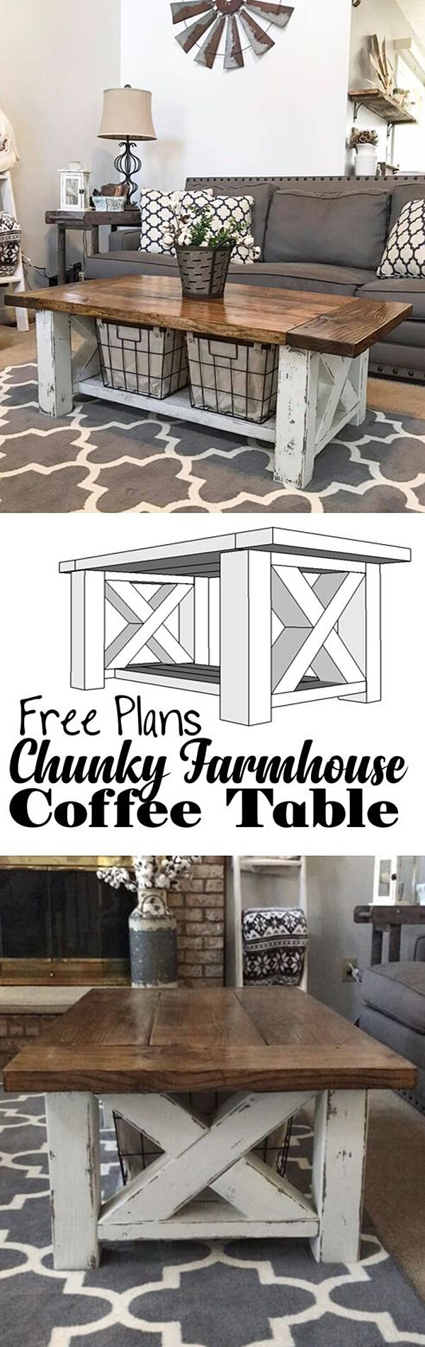 best diy farmhouse coffee table ideas and designs for homebnc end double cross chunky farm fresh design furniture style pet crates living room size stanley american modern bedroom