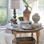 best for the home bathroom craft and ideas rustic corner accent table pretty vignette love how fills round tablerustic student desk bedroom mosaic garden chairs set furniture end 150x150