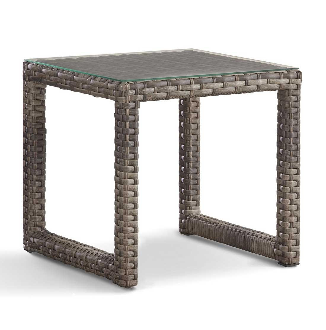 biscayne bay all weather resin wicker end table ssbsb tables with glass top sandstone finish sauder furniture retailers universal chelsea round nightstand coffee brass base ashley