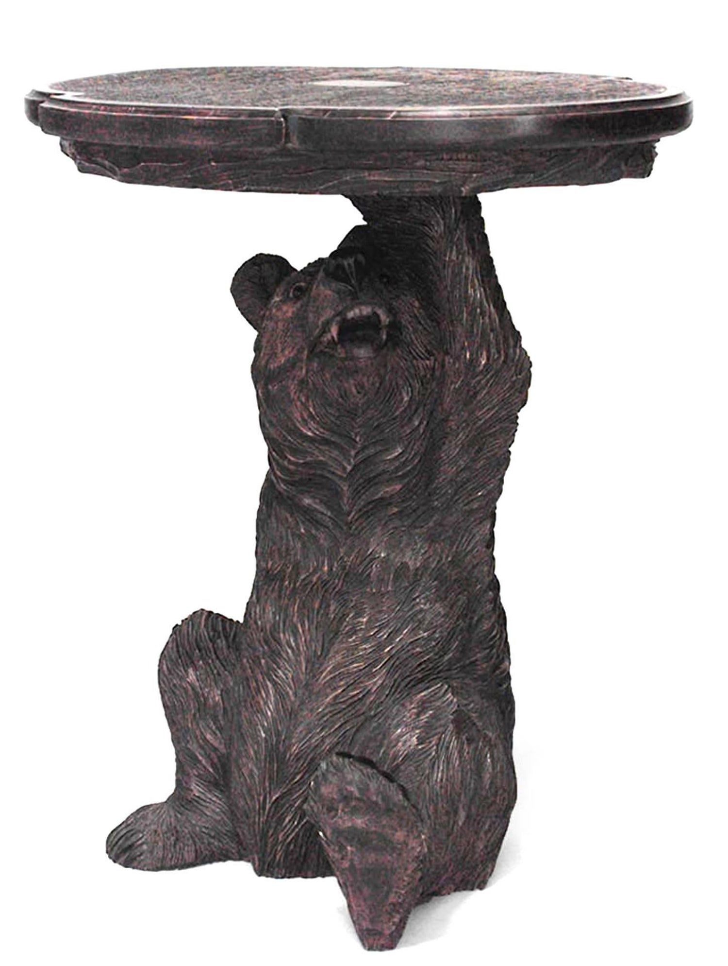 black forest style carved bear end table for master tables lazy boy chair warranty ethan allen customer reviews antigo repurposed sofa south shore coffee morcilla pittsburgh paint