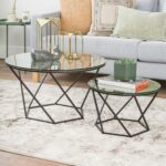 black geometric glass nesting coffee tables pier end thank you liberty furniture showroom universal children wooden crate nightstand diy clear ashley cribs solid wood mumbai 150x150