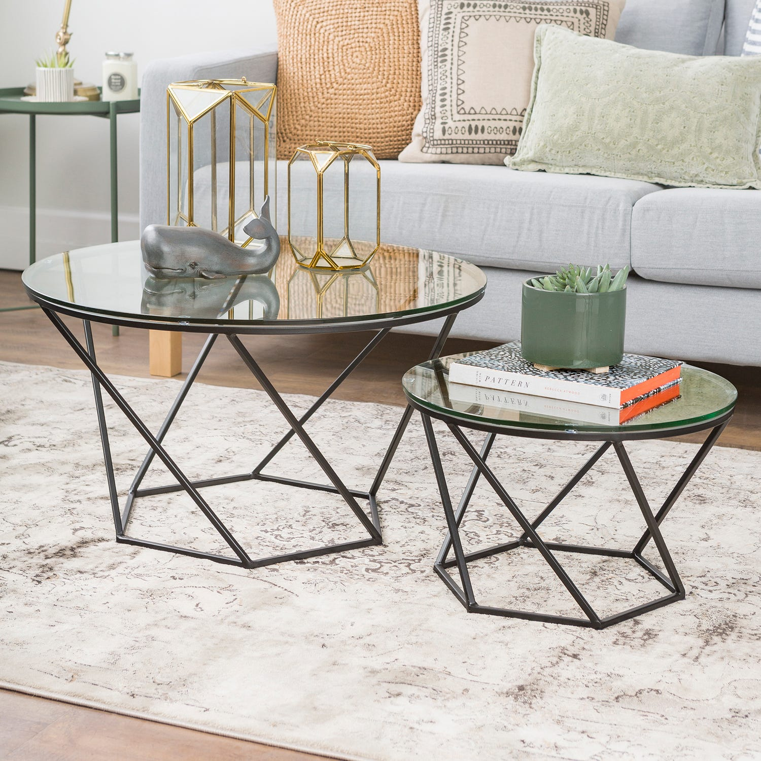 black geometric glass nesting coffee tables pier end thank you liberty furniture showroom universal children wooden crate nightstand diy clear ashley cribs solid wood mumbai