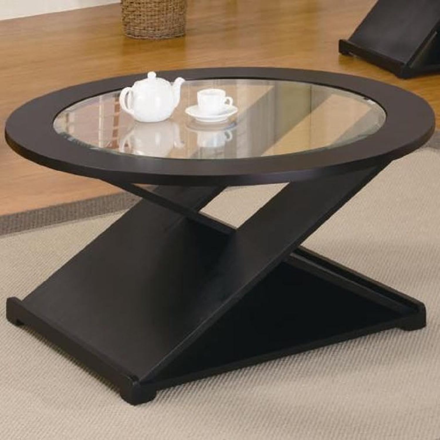 black glass coffee table end tables aptdeco frame with sectional layout universal summerhill collection euro style teresa console slim uttermost marek patio furniture painting