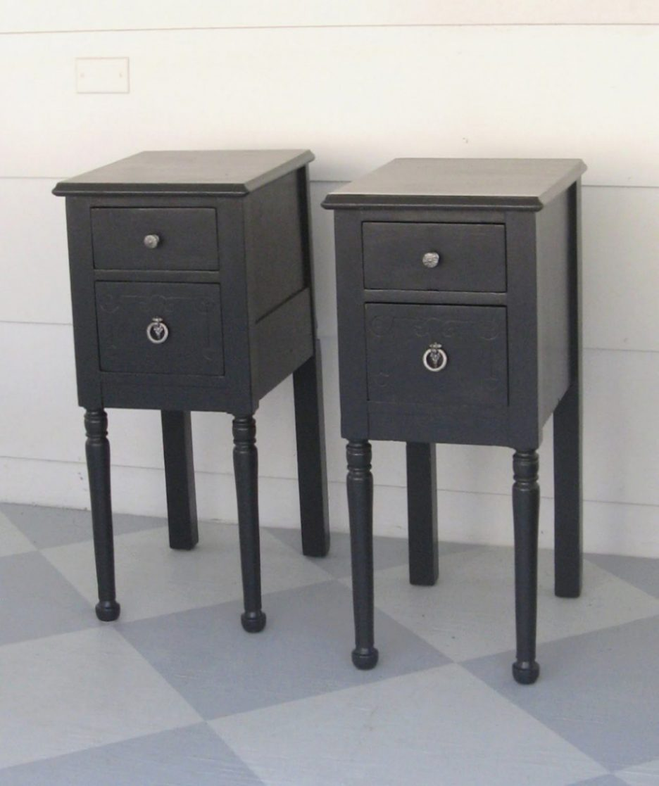 black metal nightstand end tables nightstands etra narrow bedside table acrylic tall round bedroom royal oak bangalore furniture royale ethan allen french country base lamp