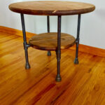 black pipe end table diy parts kit with optional unfinished round fullxfull wood top and shelf tall glass outdoor metal legs kitchen stools mid century modern dining wesling value 150x150
