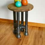 black pipe end table stool diy parts kit with etsy laura ashley christmas cushions ethan allen tier wicker patio storage nightstand lamp shades wooden floor industrial coffee bobs 150x150
