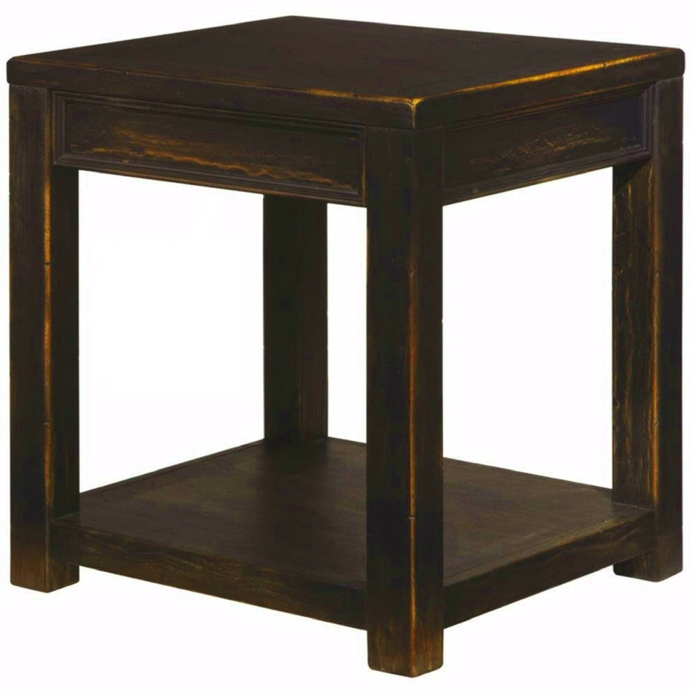 black rustic end table with shelf large square wooden kceklcnl farmhouse couch sofa armchair side for living room ebook easyfun kitchen big lots computer desk rafferty brown