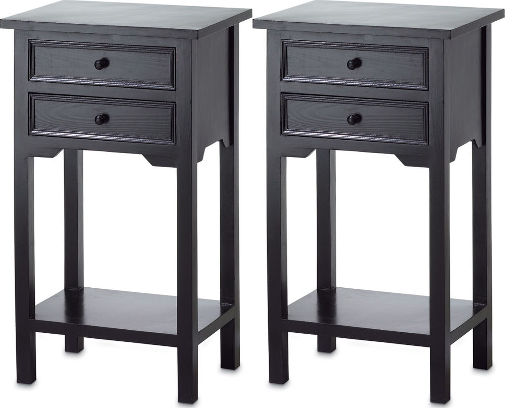 black side end tables with drawers tall table white metal wood oak plans vintage mid century lighting dolphin lamp broyhill outdoor chairs diy pallet furniture distressed coffee