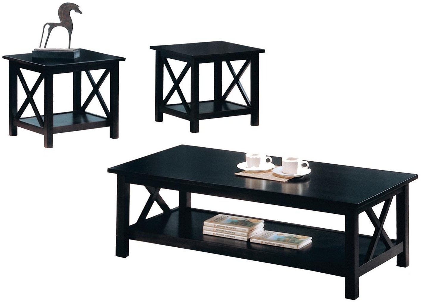 black wood coffee table set steal sofa furniture los and end sets angeles italian design chairs painted solid outdoor distressed farmhouse hallway toronto small dog crate oval