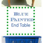 blue painted end table makeover painting tables with customer color homemade chalk paint modern dog crate furniture industrial pipe console fire pit dining chairs distressing 150x150