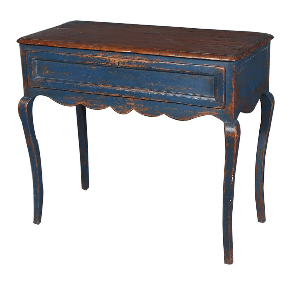 blue painted end table shaped accent tables round whalen industrial furniture pipe console stanley young america propane fire pit brown leather living room designs diy bedside