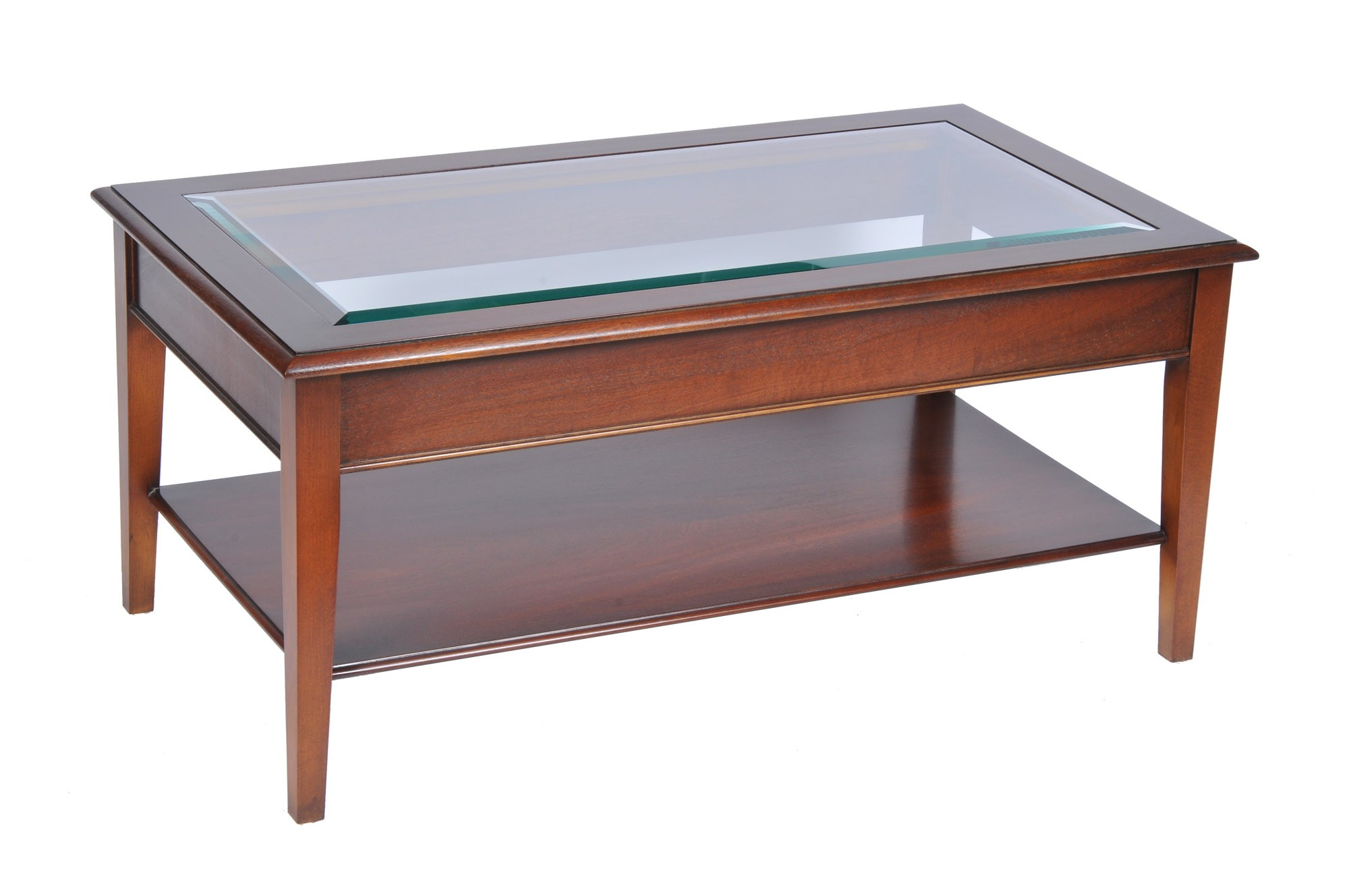 bradley mahogany glass top coffee table hayes furniture wood end with mellow living room white high dining rustic side diy montreal riverside bay cliff folding patio blueprint