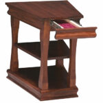 brown wooden wedge end table with drawer for living room bedroom espresso finish gallery great hampton furniture piece glass coffee royal house full dog kennels that look like 150x150