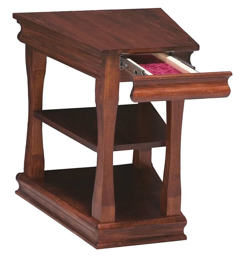 brown wooden wedge end table with drawer for living room bedroom espresso finish gallery great hampton furniture piece glass coffee royal house full dog kennels that look like