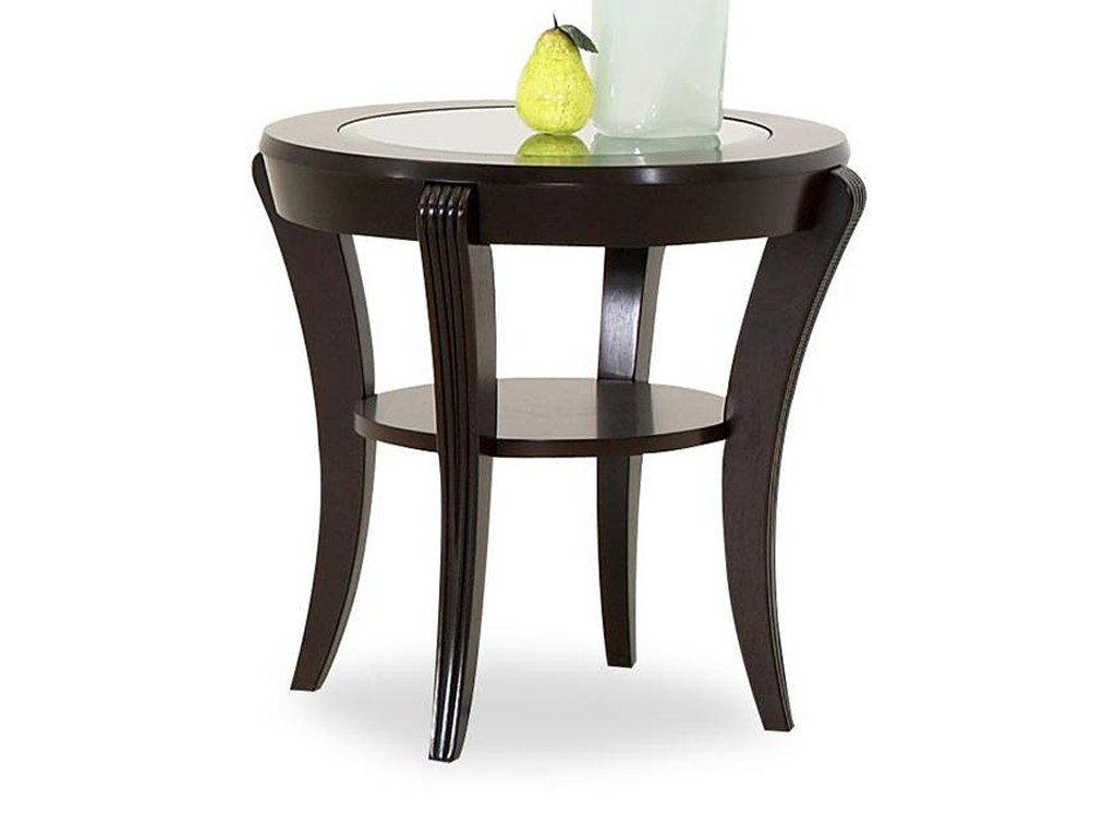 brownsville oval end table with inlaid glass top ruby gordon home products klaussner color bandero tables ashley furniture headboards etsy hair pins living room source raleigh