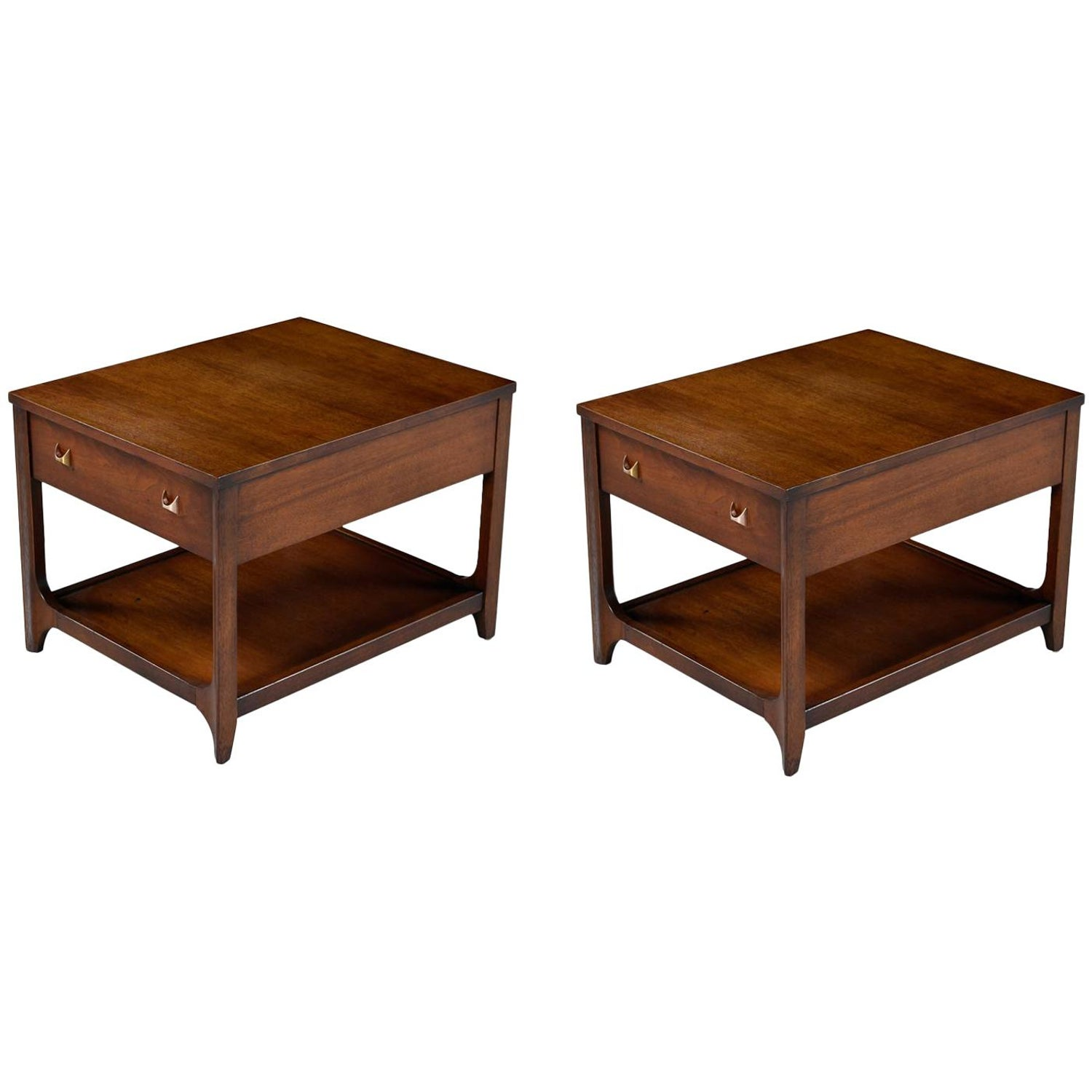 broyhill brasilia nightstand bedside end tables walnut chairside master used for west elm coat rack resin wicker patio coffee table jason lazy boy recliner chairs liberty