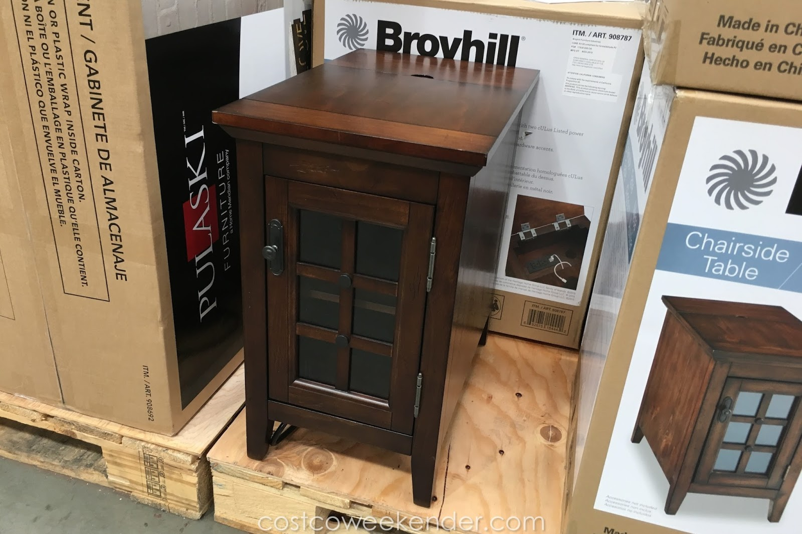broyhill chairside table weekender whalen end great nightstand tree coat rack oak lamp tables for living room rustic coffee designs wine kmart unfinished childrens furniture old