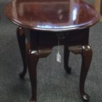 broyhill cherry end table drawer stock swap furniture consignment img tables white hall kmart black stools unfinished wood company magnussen pinebrook cocktail small bedside stand 150x150