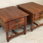broyhill end table side nightstand pair set wooden dresser used tables norton secured powered verisign west elm coat rack ethan allen country furniture large dog crate antique 150x150