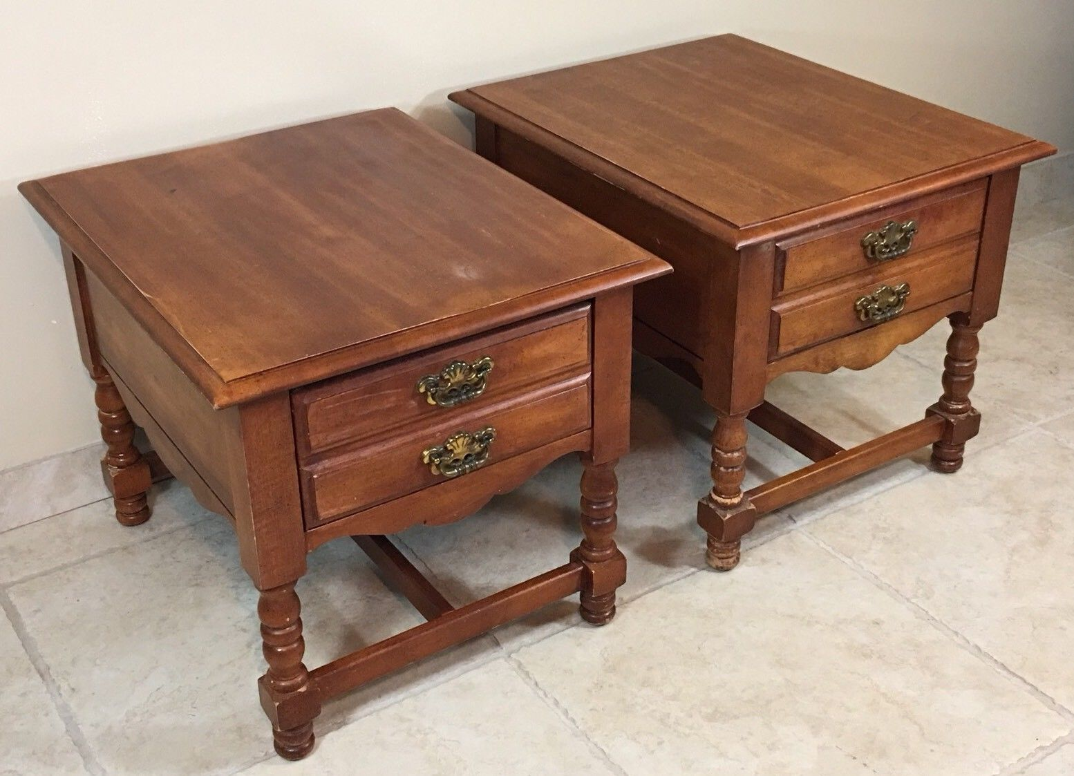 broyhill end table side nightstand pair set wooden dresser used tables norton secured powered verisign west elm coat rack ethan allen country furniture large dog crate antique