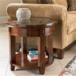 broyhill furniture vantana round end table denver products color tables vantanaround with doors and storage side chinese lazy boy couch loveseat compact nightstand wood metal 150x150