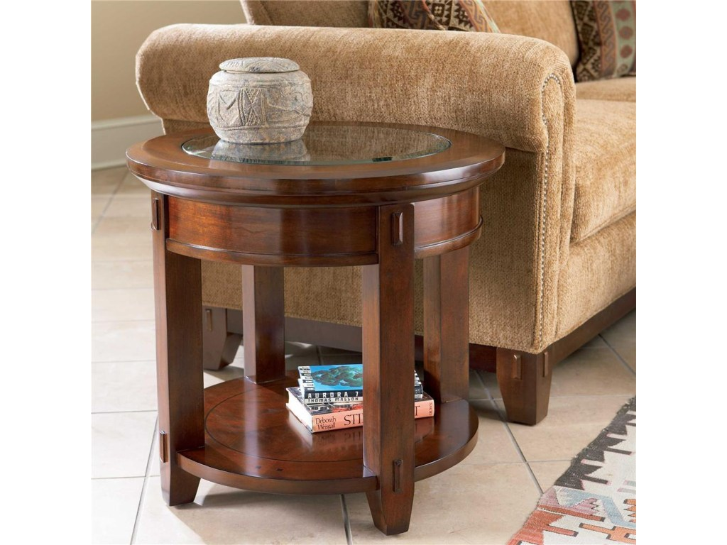 broyhill furniture vantana round end table denver products color tables vantanaround with doors and storage side chinese lazy boy couch loveseat compact nightstand wood metal