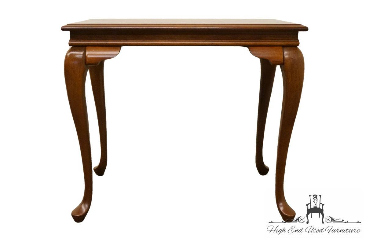 broyhill lenoir house solid cherry tea table made etsy fullxfull end tables large dog kennel plans magnussen pinebrook cocktail nautical kmart black stools furniture row brown