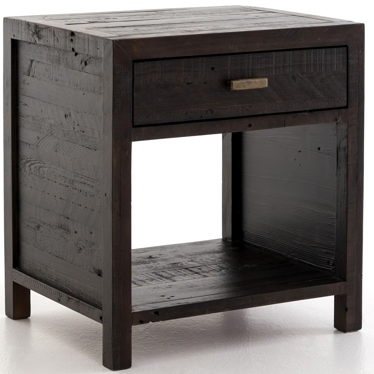caminito dark carbon reclaimed wood end table zin home vcna prm black with basket hokku designs coffee unfinished office desk iron legs lovbacken side kmart toddler shoes saarinen