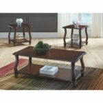 carshaw dark brown coffee table and two end tables set outdoor pallet sided dining room sets making furniture glass dolphin full marble living lamps bench west elm contract 150x150