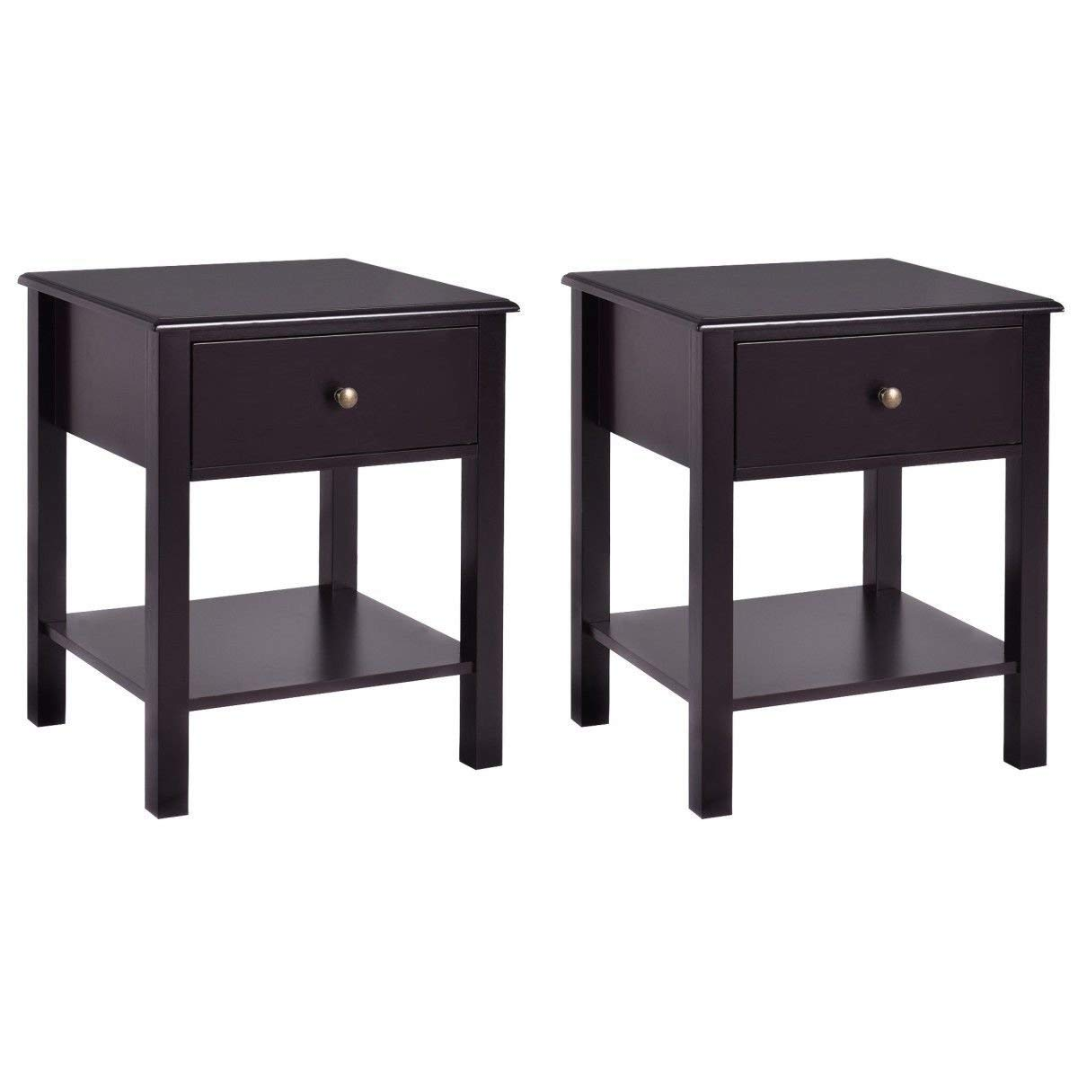 casart end table wood nightstand storage display bedroom furniture tables with drawer shelf beside brown kitchen dining sauder good baby kmart ese coffee small black mirror side