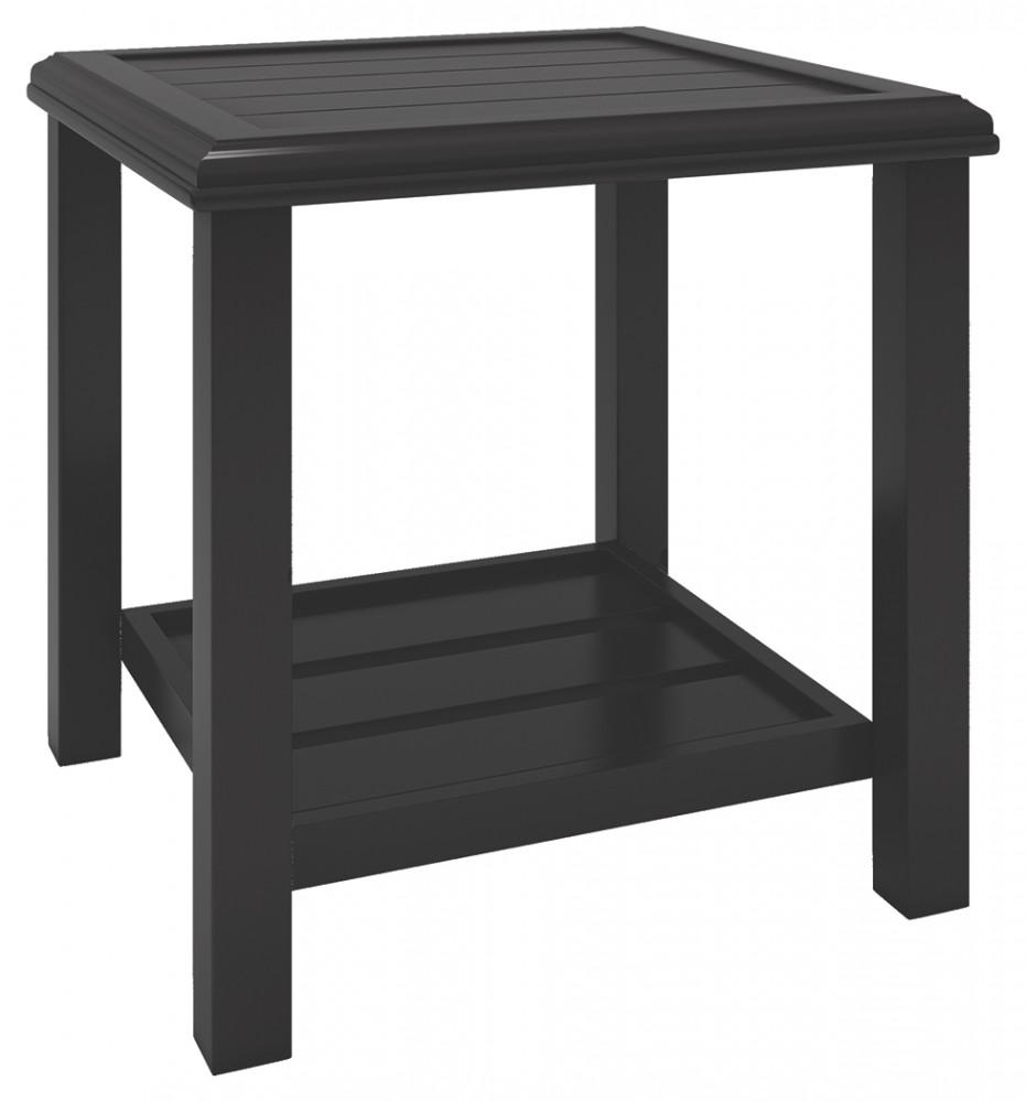 castle island dark brown square end table black with basket iron legs dog cage kmart toddler shoes magnolia farms furniture waco lamp size cherry coffee row portland rustic garden