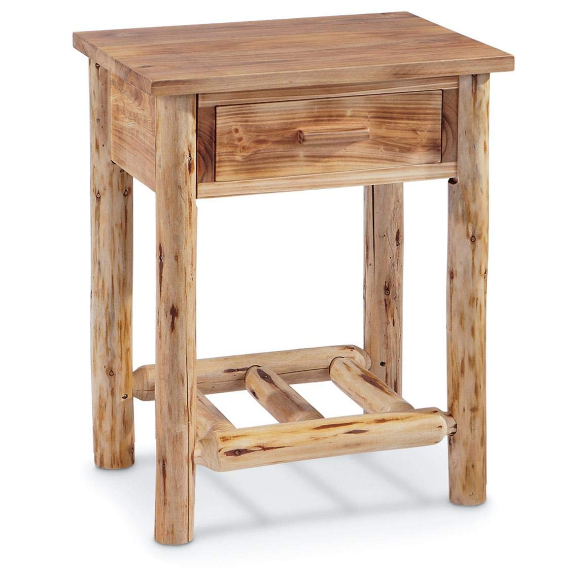 castlecreek log end table kitchen dining furniture tables industrial pipe computer desk old style side sears coffee sets black cherry wood tures sofa living room round glass